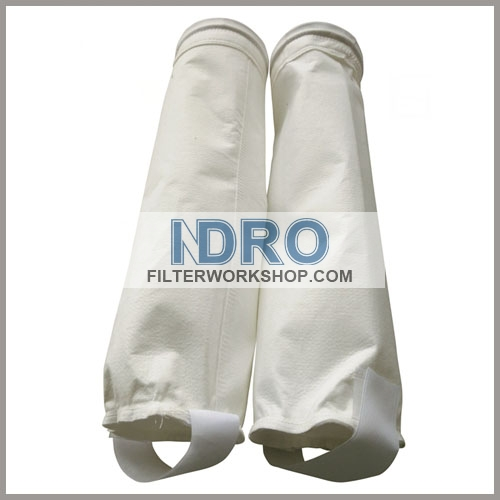 polyester filter bag with disc top with Velcro Strap