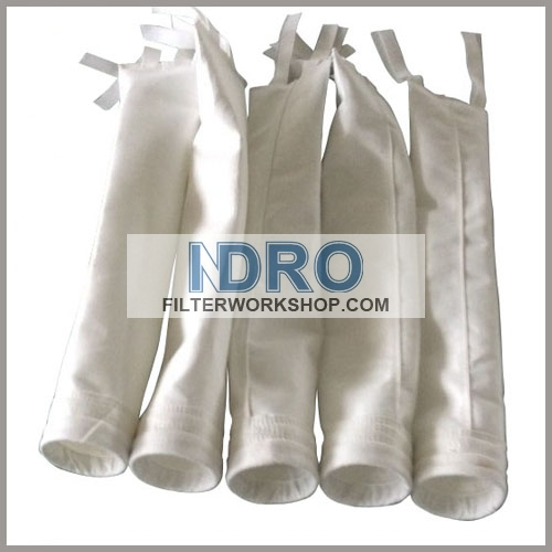 polyester filter bag with tie straps