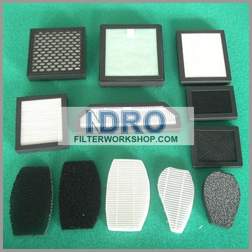 HEPA/carbon active automobile air filter/car air purifier filter