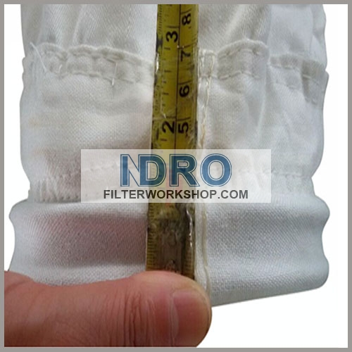 filter bags/sleeve used in sand conditioning and watering of Ingot mould process