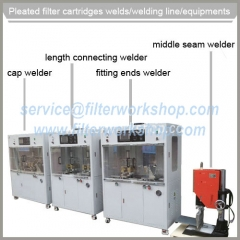 Liquid Filtration Pleated Filter Cartridge Welding Lines/Equipments/Machines/Welders
