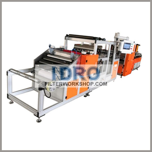 pleated air filter pleating and gluing machine production line